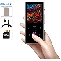 Aigo 16GB Bluetooth MP3 Player with FM Radio,Audiobook