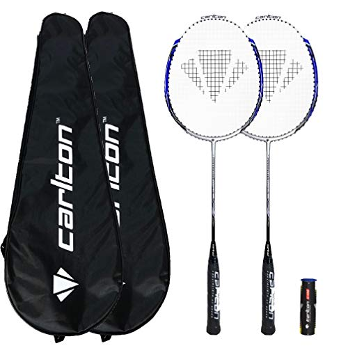 DUNLOP Carlton Badminton-Sets (2 Spieler, 4 Spieler und Familien-Optionen) (Powerblade Tour x2)