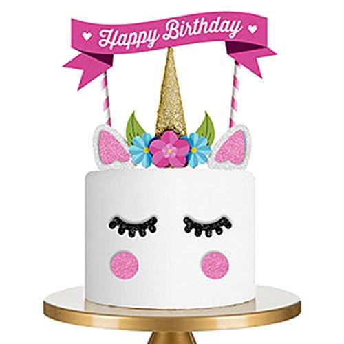 iKulilky Happy Birthday Kuchendekoration Cake Toppers Kuchen Geburtstag Party Deko Kuchenaufsätze Tortenstecker Geburtstag