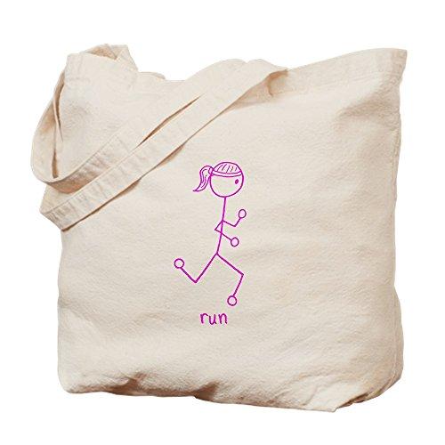 CafePress Einkaufstasche, Motiv Laufendes Mädchen, Pink, canvas, khaki, S
