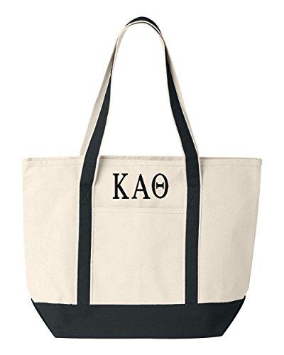 Kappa Alpha Theta Large Canvas Tote Bag