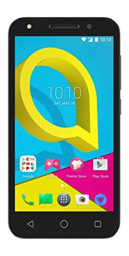 Alcatel U5 Smartphone, (12,7 cm (5 Zoll) Bildschirm, 8 GB Speicher, Android 6.0) schwarz/grau