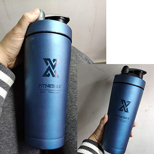 PLC020 700ml Stainless Steel Protein Shaker Sport Fitness Shaker Nutrition Shaker Cup | Double Wall Vacuum Insulation 700 ml