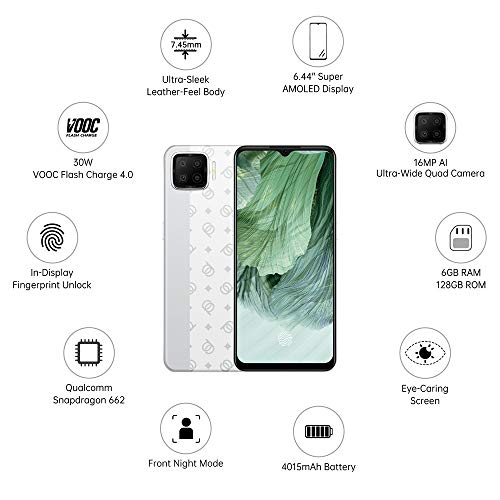 OPPO F17 (Classic Silver, 6GB RAM, 128GB Storage) with No Cost EMI/Additional Exchange Offers