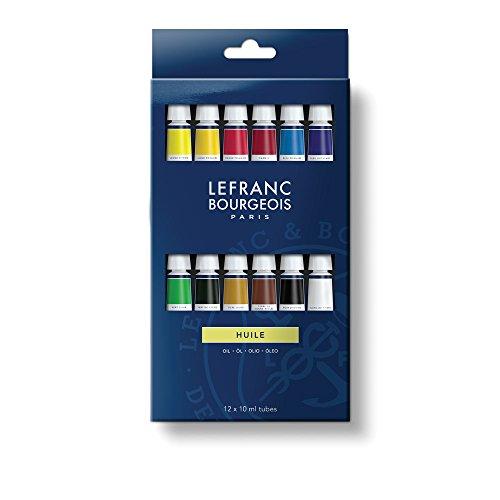 Lefranc & Bourgeois-Pintura al óleo (Starter Set 12óleos en 10ML Tubos