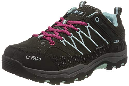 CMP Unisex-Kinder Kids Rigel Low Shoes Wp Trekking-& Wanderhalbschuhe, Braun (Arabica-Sky Light 76bn), 38 EU