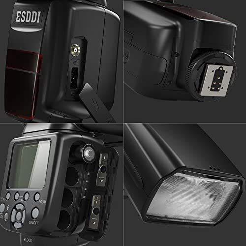 ESDDI Camera Flash for Canon DSLR Camera, E-TTL 1/8000 HSS GN58, Multi, Wireless Camera Flash Set Include 2.4G Wireless Flash Trigger, Cold Shoe Base Bracket and Accessories
