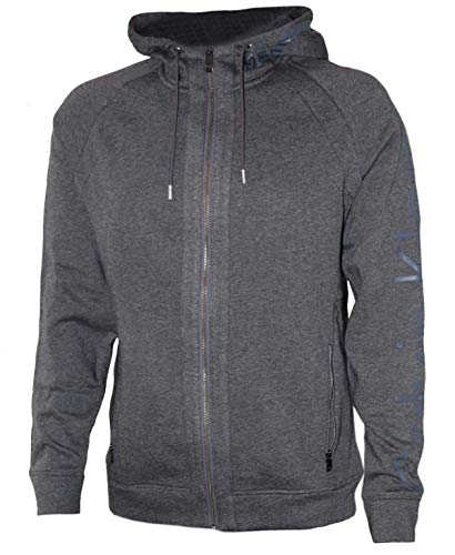 Calvin Klein Clif Heather Sweatjacke Sweatshirt Sweat Jacke, grau, Größe M