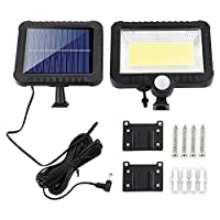 ソーラーライト ソーラーライトモーションセンサー屋外かん養LEDの防水ソーラーガーデンランプパスのストリートアウトドアウォールスポットライト AiHua Huang (Color : ブラック, Size : 100COB)