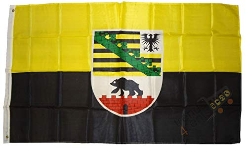 Saxe-Anhalt Drapeau Grand format aux intempéries 250 x 150 cm Drapeau