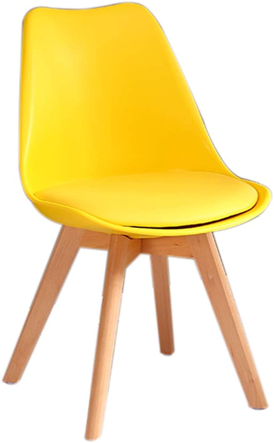 Chair - Multicolor Optional Portable Solid Wood Wooden Frame Anti-Stress Chair (color   Yellow)