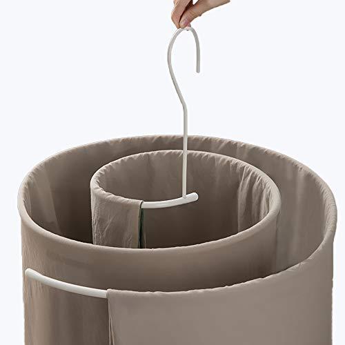 シーツ用ループハンガー ハンガー便利 省スペース ハンガー 室内干し 洗濯物干し 丈夫 収納 錆びに(ホワイト, 1)