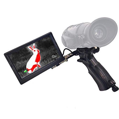 Detector de alcance de cámara termográfica de visión nocturna infrarroja digital Imágenes térmicas para patrulla de caza Seguimiento de deportes calientes, posicionamiento láser Pantalla externa