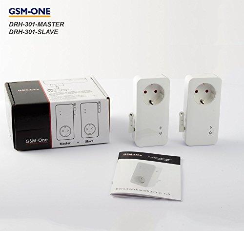 GSM/SMS Temperaturwächter, Hitzewächter und Fernschaltsystem DRH-301-V4 LTE, Startpaket Master + Slave : DRH-301-V4- Duo