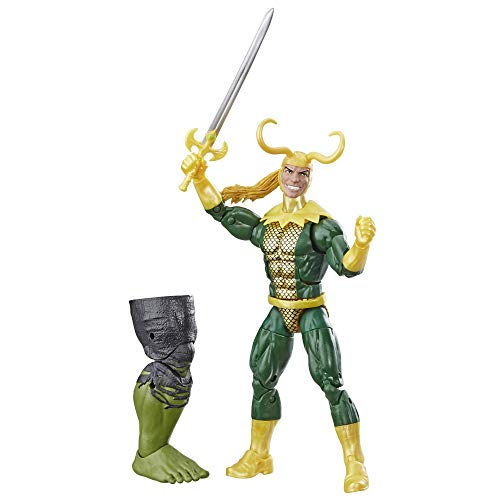 "Marvel Legends Series Loki 6"" Collectible Marvel Comics Action Figure Toy for Ages 6 & Up with Accessory & Build-A-Figurepiece"
