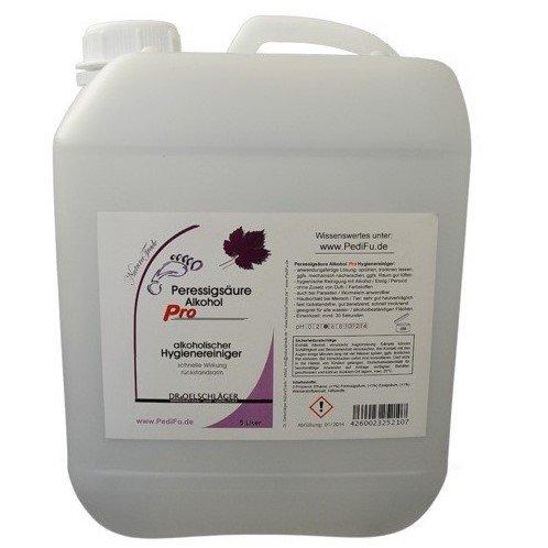 Agrinova Peressigsäure/Alkohol Pro 5 Liter - hygienische Schnellreinigung gegen Bakterien, Pilze, Viren, Parasiten