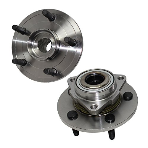 Detroit Axle - 515072 Brand New Pair Front Wheel Hub and Bearing Assemblies for 2002 2003 2004 2005 2006 2007 2008 Dodge Ram 1500 NO ABS