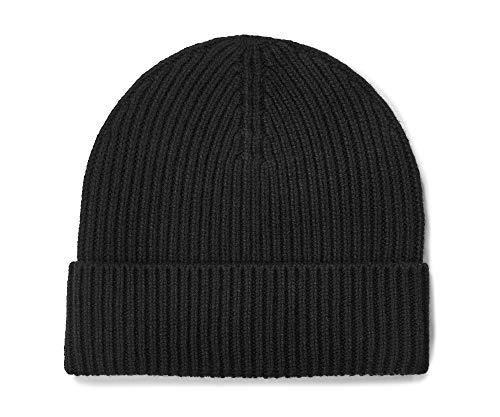 UGG M Wide Cuff Rib Hat, Black, one Size