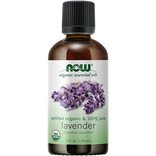 NOW Essential Oils, Organic Lavender Oil, Soothing Aromatherapy Scent, Steam Distilled, 100% Pure, Vegan, Child Resistant Cap, 4-Ounce
