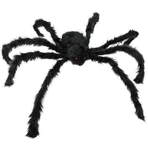 JAMIEWIN 55″ Hallowen Giant Spider Black