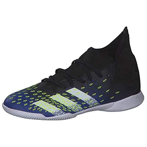 adidas Predator Freak .3 IN J, Zapatillas de fútbol, NEGBÁS/FTWBLA/AZUREA, 35 EU