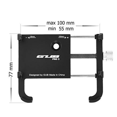 GUB PRO3 Universal Bike Fahrrad Motorrad Halterung für Handy, Smartphone, Navi usw. Schwarz - 3