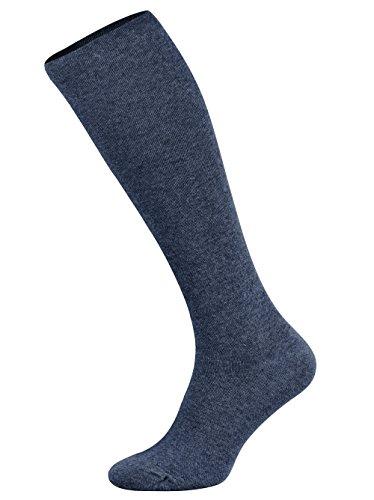 Tobeni 1 Paar Damen Herren Kompressionsstrümpfe Kniestrümpfe Stützstrümpfe Baumwolle Unisex Farbe Jeans Blau Grösse 43-46