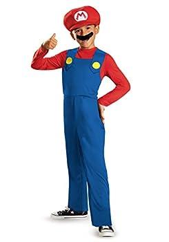 Nintendo Super Mario Brothers Mario Classic Boys Costume Medium/7-8