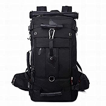 KAKA 40l Travel Backpack Carry On Bag Durable Backpack Duffle Bag Fit for 15.6 Inch Laptop for Men and Women  black
