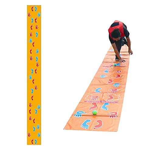 KNWSHT Ocupado Manos y Pies Juego de Equipo Juegos de Play Mat en Grupo Actividad de Aprendiza al Aire Libre Empresa Jardín de Infantes Team Building para...