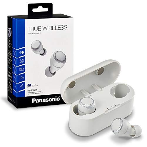 Panasonic RZ-S300WE-W - Auriculares True Wireless inalámbricos con Sensor táctil (Bluetooth, Estuche de Carga, batería de Larga duración y Antena Compatible con asistentes de Voz) Blanco