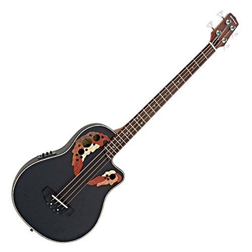 Roundback elektro-akustische Bassgitarre von Gear4music schwarz