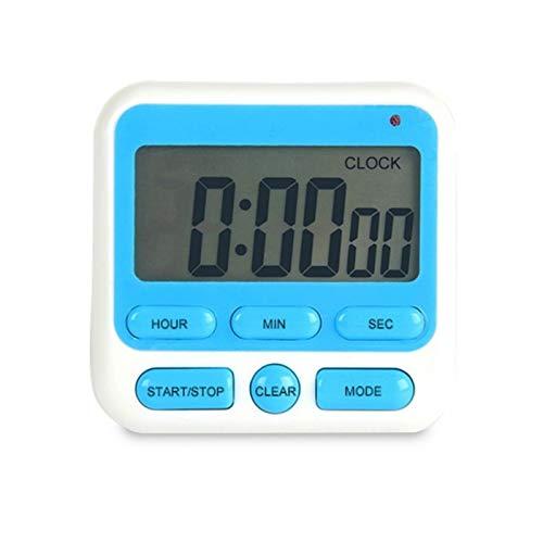 WAMZD Pantalla Grande Temporizador de Alarma Pantalla Digital Temporizador de Cocina Cocina Cuadrada Cuenta atrás Cuenta atrás Reloj Despertador Reloj Swatch de sueño