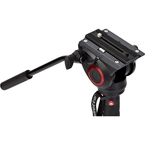 Manfrotto Xpro Aluminum Video Monopod with 500 Series Video Head, Black (MVMXPRO500US)