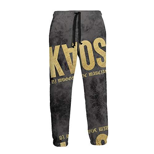 LAOLUCKY Pantalones deportivos para hombre Jogger Jersey Pantalones casuales