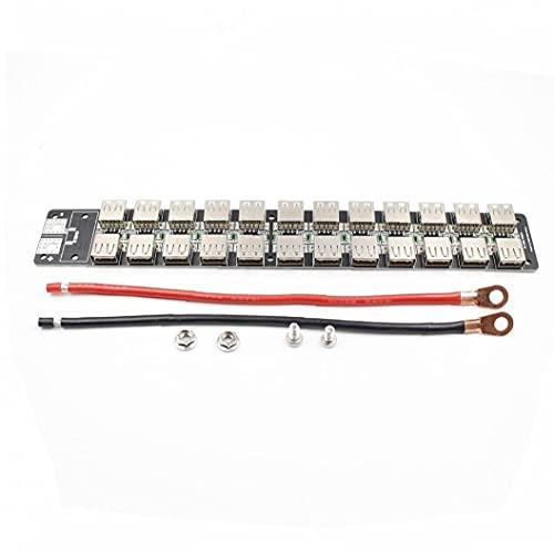 Hainice Cargador USB de Puerto múltiple, 4.8V-5.2V para la Fuente de alimentación de DIY USB, diseño de la Tabla con el Alambre de Silicona 12AWG