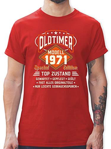 Geburtstag - Oldtimer Modell 1971 - XL - Rot - Tshirt Herren 50 Geburtstag 1971 - L190 - Tshirt Herren und Männer T-Shirts