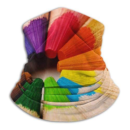 XCVD Komfortfarbstift Multifunktionaler Mikrofaser-Halswärmer, Sportgesichtsschutz, winddichter, staubdichter Mund Gesichtsmaske Magischer Schal Halswärmer Kopfwickelschals Gesichtsmaske Bandana