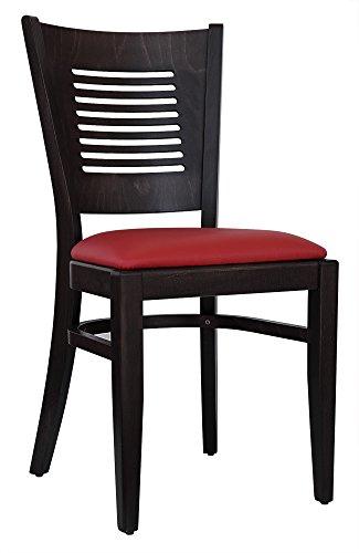 abritus Set 2 Stühle Esszimmerstuhl Buche massiv wenge gepolstert rot »TG004«