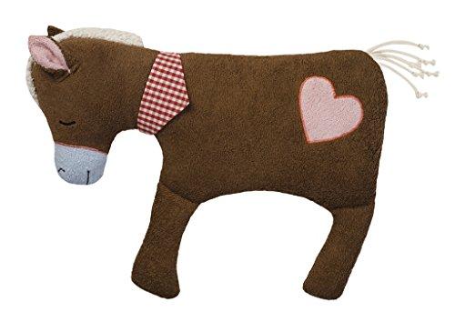 Efie XL Pferd braun mit Herz, Spieltier und Kuschelkissen, kontrolliert biologischer Anbau (organic), Made in Germany