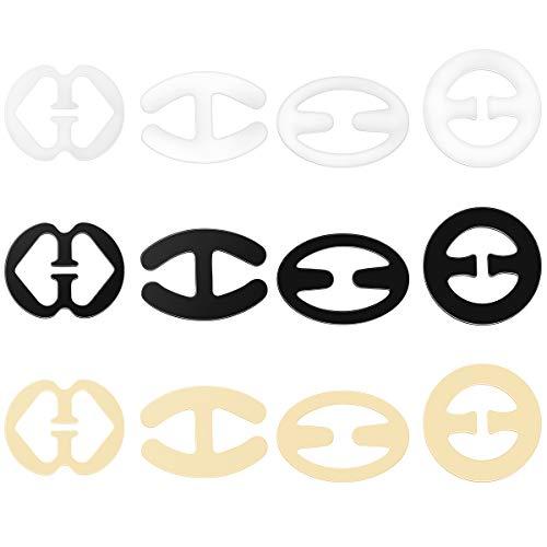 LUOEM LUOEM BH Träger Clip BH Bügel Konverter Concealer Racerback Clip Spaltung Control Pack 12, M, Schwarz