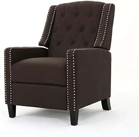 Best Christopher Knight Home Izidro Traditional Fabric Recliner, Coffee / Dark Brown