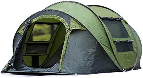 Ankon Portátil Familia Camping Tienda Impermeable Anti-UV Sombrilla Al Aire Libre 3-4 Personas Campaña Tienda Camping Apertura automática Capa de una Sola Capa para Pesca de Mochilero