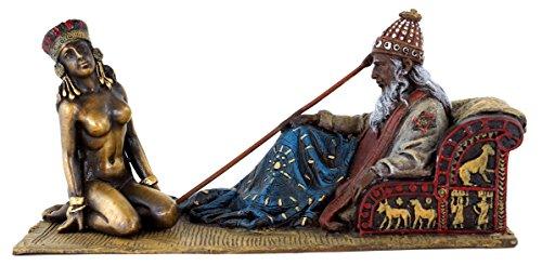 Erotische Araber - Wiener Bronze - Erotika - Sklavenmeister mit nackter Sklavin - handbemalte Bronzefigur - Orientale - Erotik Akt - Dekofigur - Vienna - Erotische Kunst