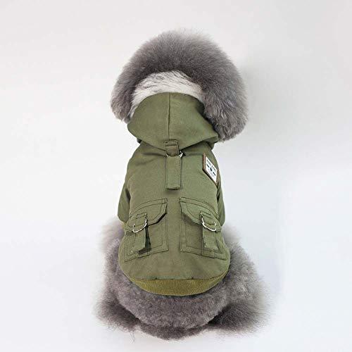 KSITH mantel met bontkraag en capuchon, warme kattenmantel voor herfst en winter, L, Een