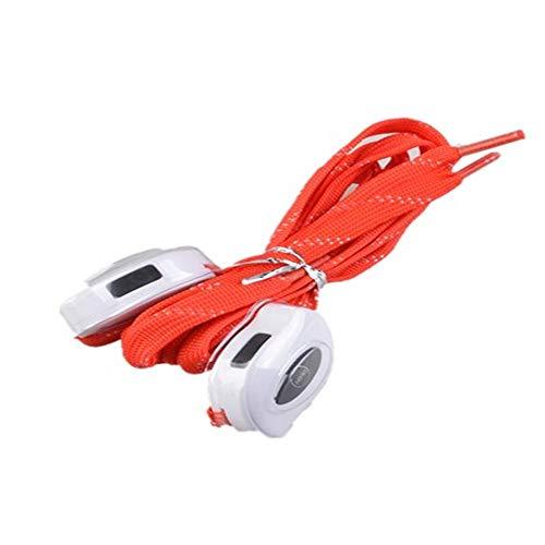 USB Que Carga El Cordón De Nylon Led Que Enciende La Cuerda del Zapato,De Gules