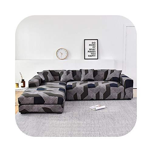 Sofabezug in L-Form, elastisch, für Sofa, Handtuch, Sessel, für Ecksofa, schützt die Möbel, 12 – 2 – Seater145 – 185 cm, 1 Stück