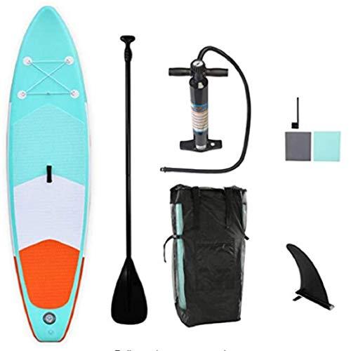 Geteah Stand Up Paddle Board aufblasbares Paddelboard SUP für Erwachsene Rutschfestes Wakeboard für Damen Herren Jugendliche Anfänger Stehboot mit Dual-Action-Pumpe, Paddel, Trage-Rucksack