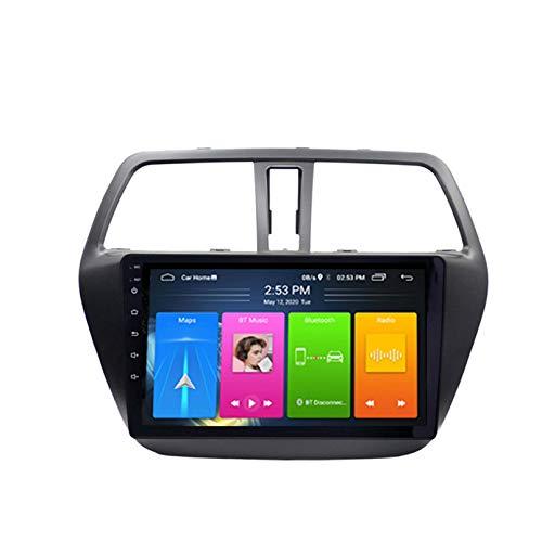 Android 8.1 Radio De Automóvil Para Suzuki S Cruz 2014 2015 2016 2017 Coche Estéreo GPS Navegación Toque Pantalla Pantalón Media Player Doble Din Unidad Unidad Soporte WiFi Contro(Color:4G+WIFI:1+16G)