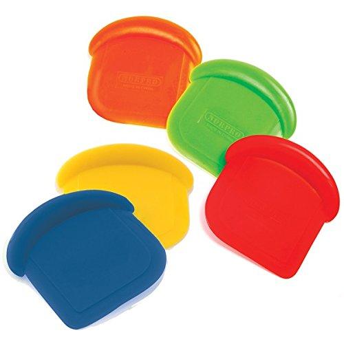 Norpro My Favorite Colored Scraper | Size 3' x 3' x .5' | 4-Count Assorted Colors